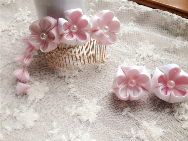 Japanese traditional Style kimono flower yukata bride hair decoration comb ornament headwear cosplay hair accessories