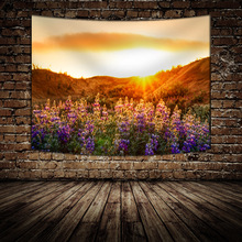 Forest Landscape Tapestry Wall Hanging Tapestries For Living Room Bedroom Misty Home Decorations