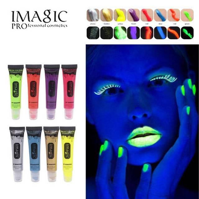 Online Shop IMAGIC 8 colors beauty fluorescent makeup paint Neon ...