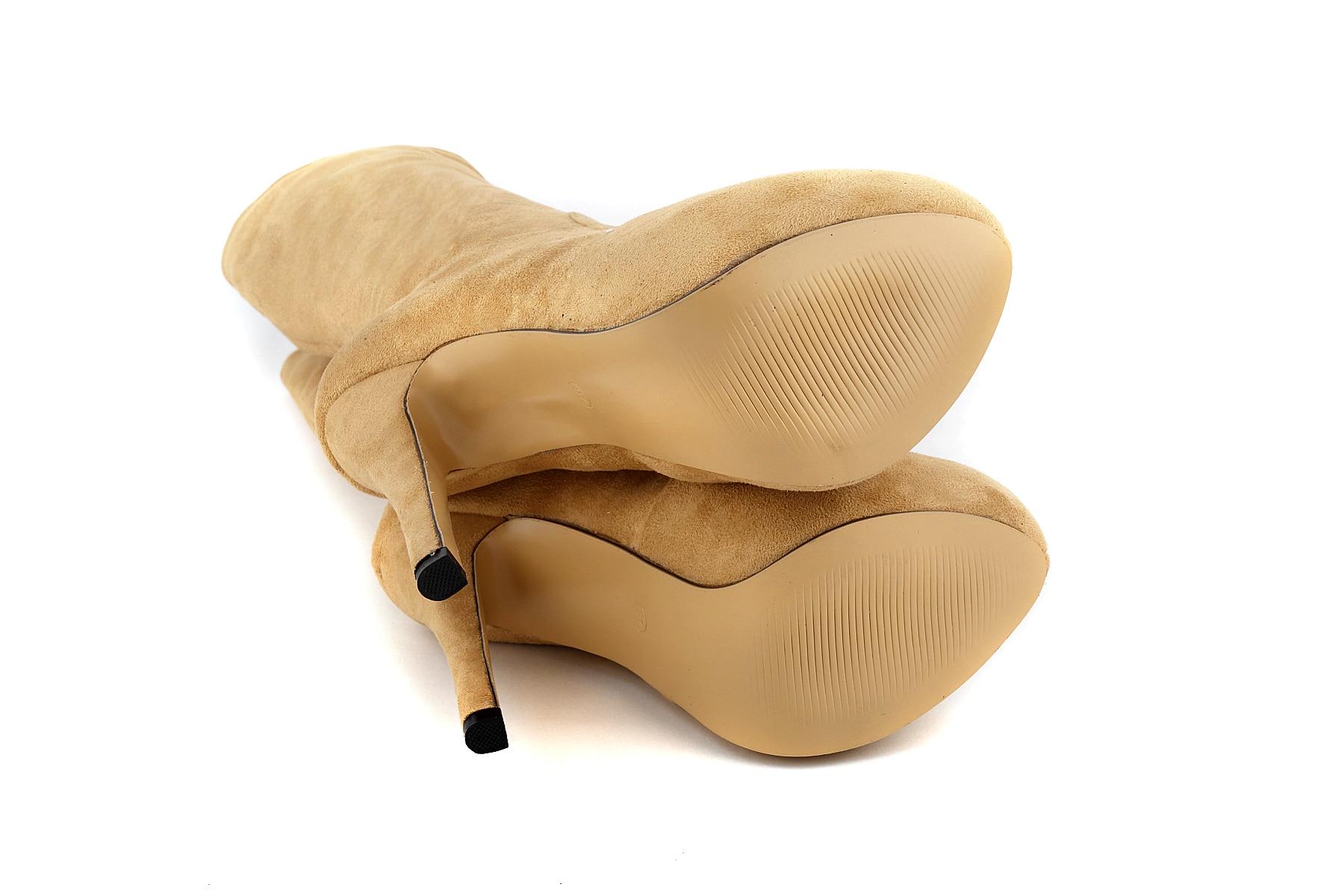 Invierno Plataforma Las Zapatos 819 Pierna 6ve Rebaño De Botas grey Moda Loslandifen Nude Ternero Redonda Hasta Mujeres Rodilla Mediados Punta La Mujer coffee aXvU4WWSq
