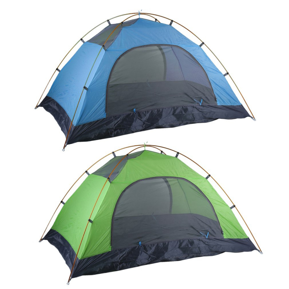 Super Lightweight Waterproof Double Layers 2 Person Tents Outdoor Camping Hiking 190T Polyester Portable Beach Tent Sunshelter 2018 hillman camping tent high mountain highland snow mountain double layers silicone coating tents super windproof rainproof
