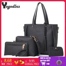 Women Bag Set Top Handle Big Capacity Female Tassel Handbag Fashion Shoulder Bag Purse Ladies PU Leather Crossbody Bag-in Shoulder Bags from Luggage & Bags on Aliexpress.com   Alibaba Group