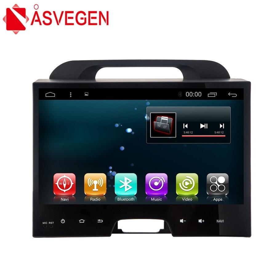 Asvegen 10.2 inch 2 Din Quad Core Android 6.0 Car Auto Audio Radio Multimedia Player GPS Navigation For KIA Sportage 2011 2015
