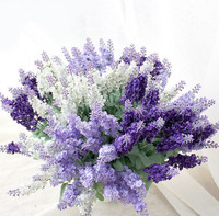 10PCS/ decorating flowers 10 Provence lavender flower wedding Home Furnishing simulation artificial flowers