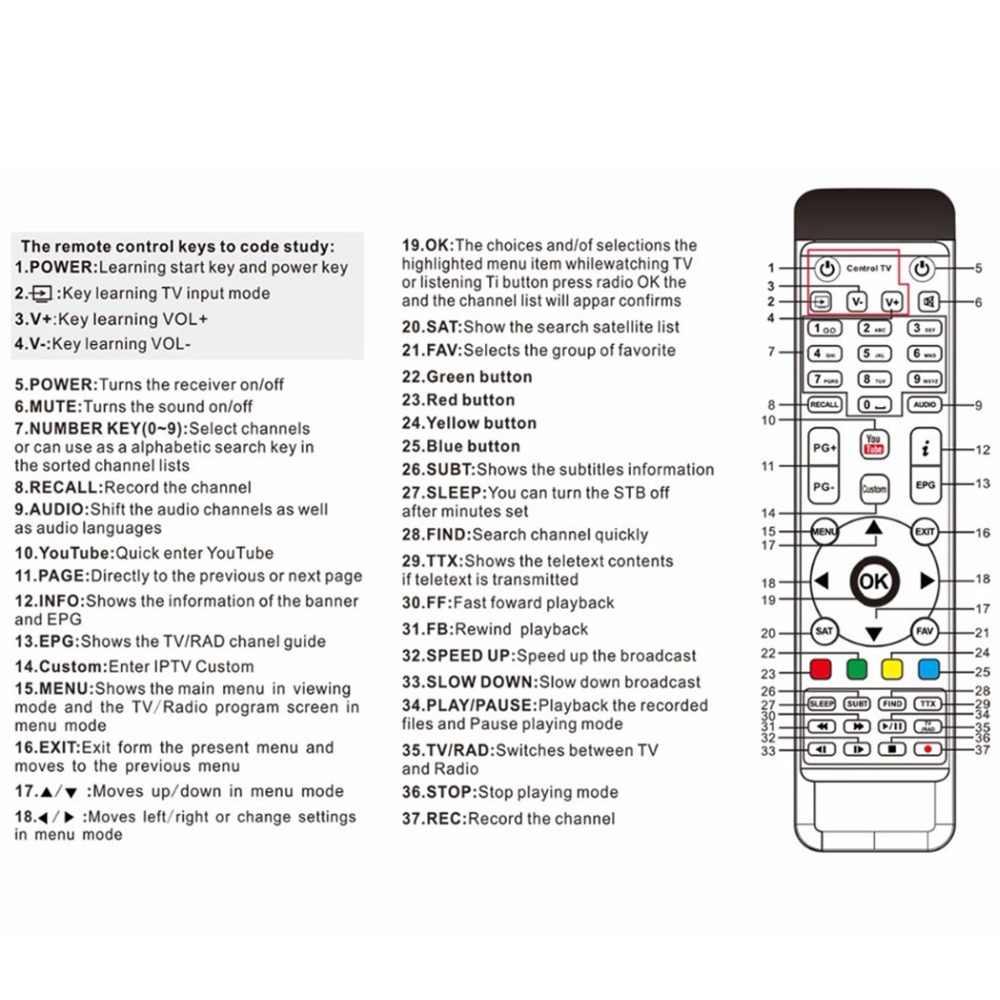 Afstandsbediening Voor Freesat Gtmedia V8 Super V8 Gouden V8 Nova V9 Pro Digitale Satellietontvanger Decoder DVB-S2/T2/C Hd Tv Box