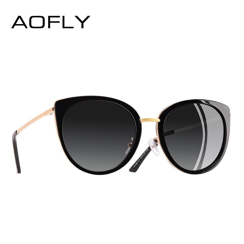 6f8d6ea133 Comprar AOFLY diseño de marca de Gafas de sol de las mujeres de Metal de  estilo Vintage de mujer Gafas de sol polarizadas tonos mujer Gafas A139  Online ...