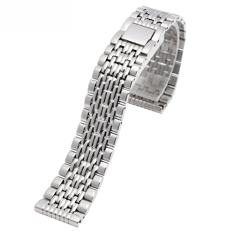 High quality watchband Stainless steel strap for 1853 T109 men women watch 15mm 19mm 21mm bracelet цена