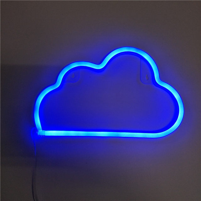 Led Neon Sign Love Lightning Cloud Moon Star Light Wall Word Poster Background Room Decor Decoration Photography Prop
