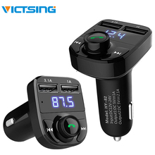все цены на VicTsing Wireless FM Transmitter Bluetooth Handsfree Car Kit LCD MP3 Player Dual USB Charger Bluetooth Transmitter DC 12-24V онлайн