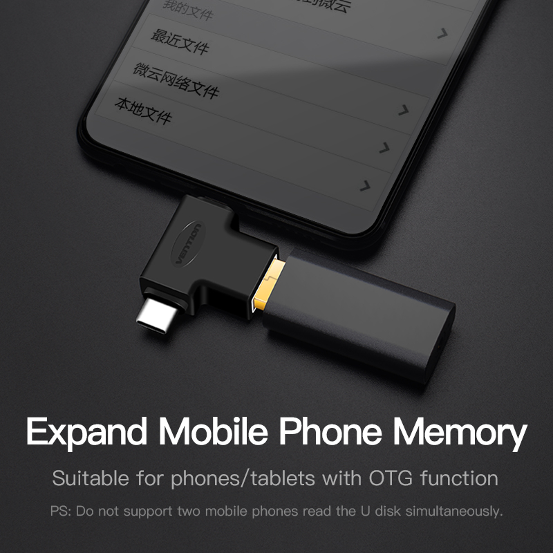 Image 5 - Vention Type C USB Adapter USB 3.0 OTG Adapter Cable 2 in 1 Micro USB OTG Converter for Xiaomi One Plus Nexus 6P All in one-in Phone Adapters & Converters from Cellphones & Telecommunications