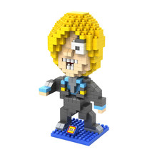 LOZ 9823 Japanese Anime Series One Piece Sanji Diamond Bricks Minifigures Building Block Compatible with Legoe