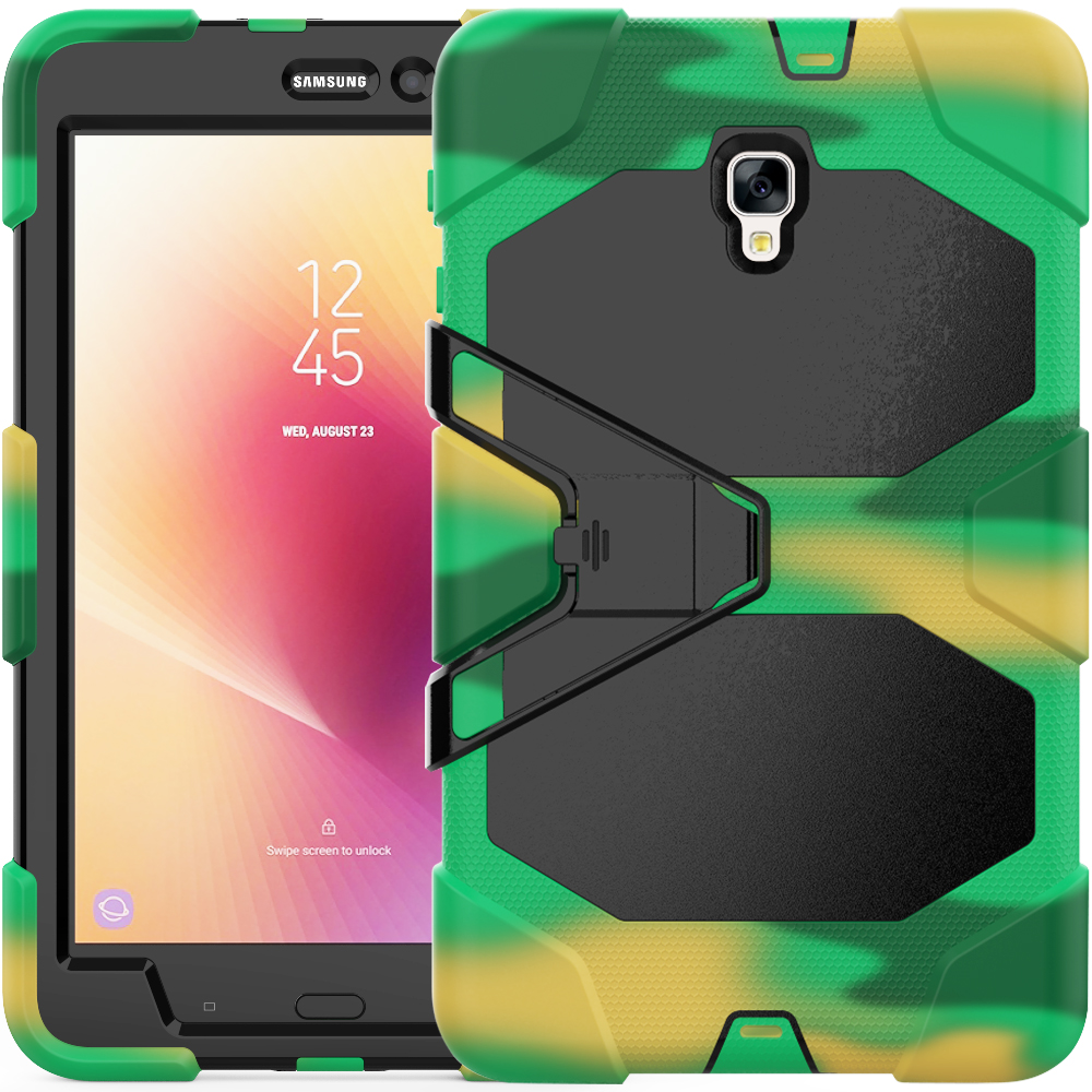 For Samsung Galaxy Tab A 8.0 2017 T380 T385 Shockproof Armor Hybrid Defender Kickstand Case Cover W/ Bulit-in Protective Film