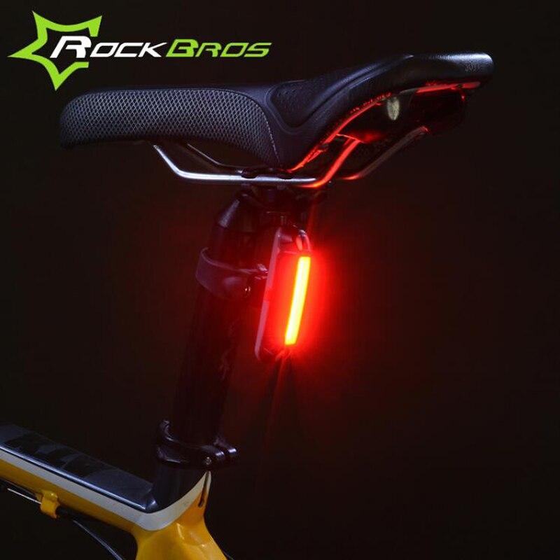 Rockbros ciclismo noche carga del usb llevó la luz de 3 modos brillante a prueba