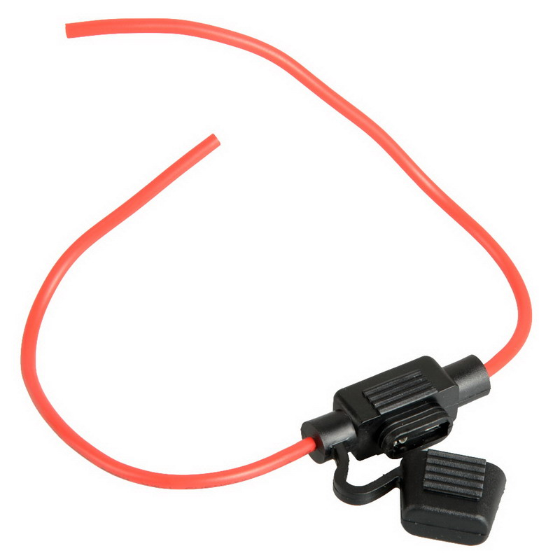 1Pc Hot Selling In-Line Car Mini Blade Fuse Holder Waterproof 16AWG 30A 12V/24V/32V DC