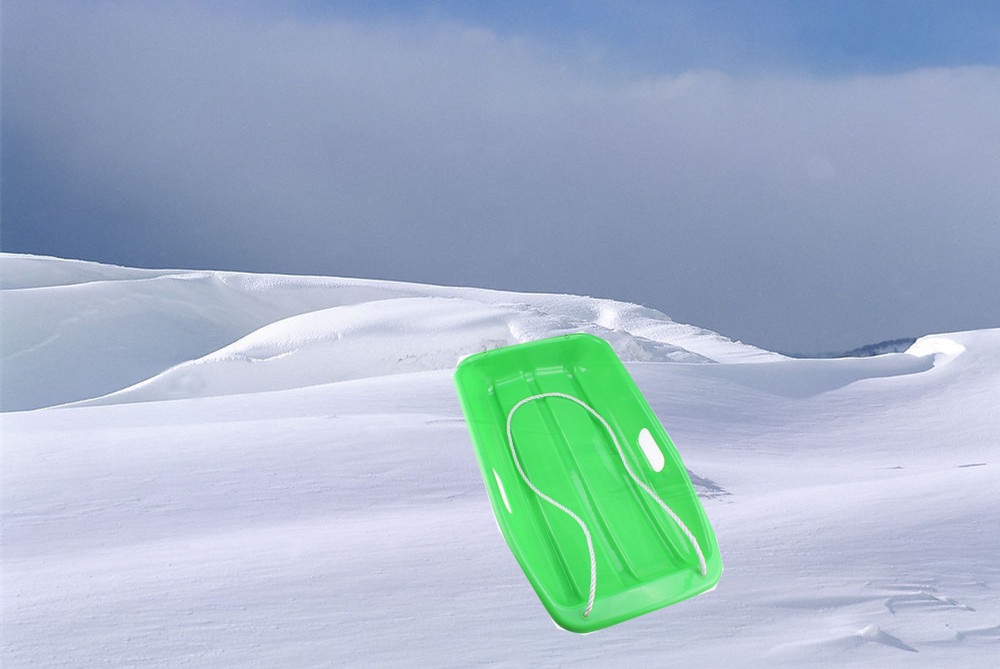 Plastic Outdoor Toboggan Snow Sled for Child Green outdoor green