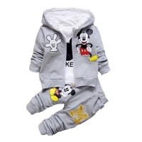 Children Boys Clothes 2017 Winter Girls Clothes Set Mickey Coat T Shirt Pants 3Pcs Girls Sport