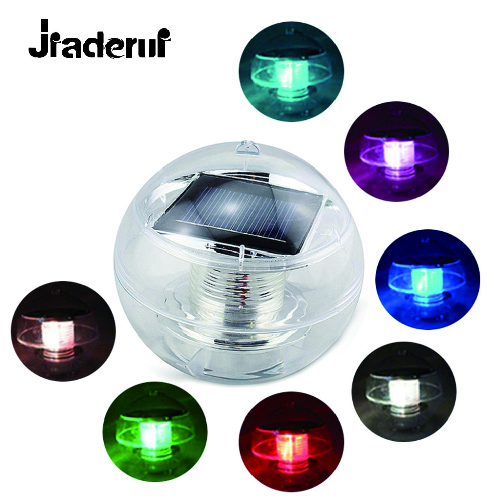 Jiaderui Novelty LED Solar Night Light Garden Pool Floating Powered Solar Lamps Garden Pond Fountain Landscape Night Lighting