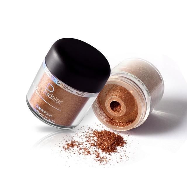 Glitter Eyeshadow Powder Pigments Eye Shadow Easy to Wear Waterproof Shimmer Cosmetics Powder Make Up Single Metallic Color 2018 3