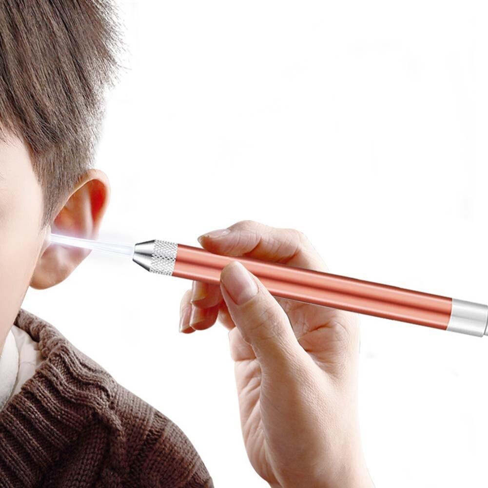7 Pcs Led Ear Spoons Set Ear Cleaning Tools Stainless Steel Earpick Remover Curette Ear High Definition Visual Earpick Ear Spoon