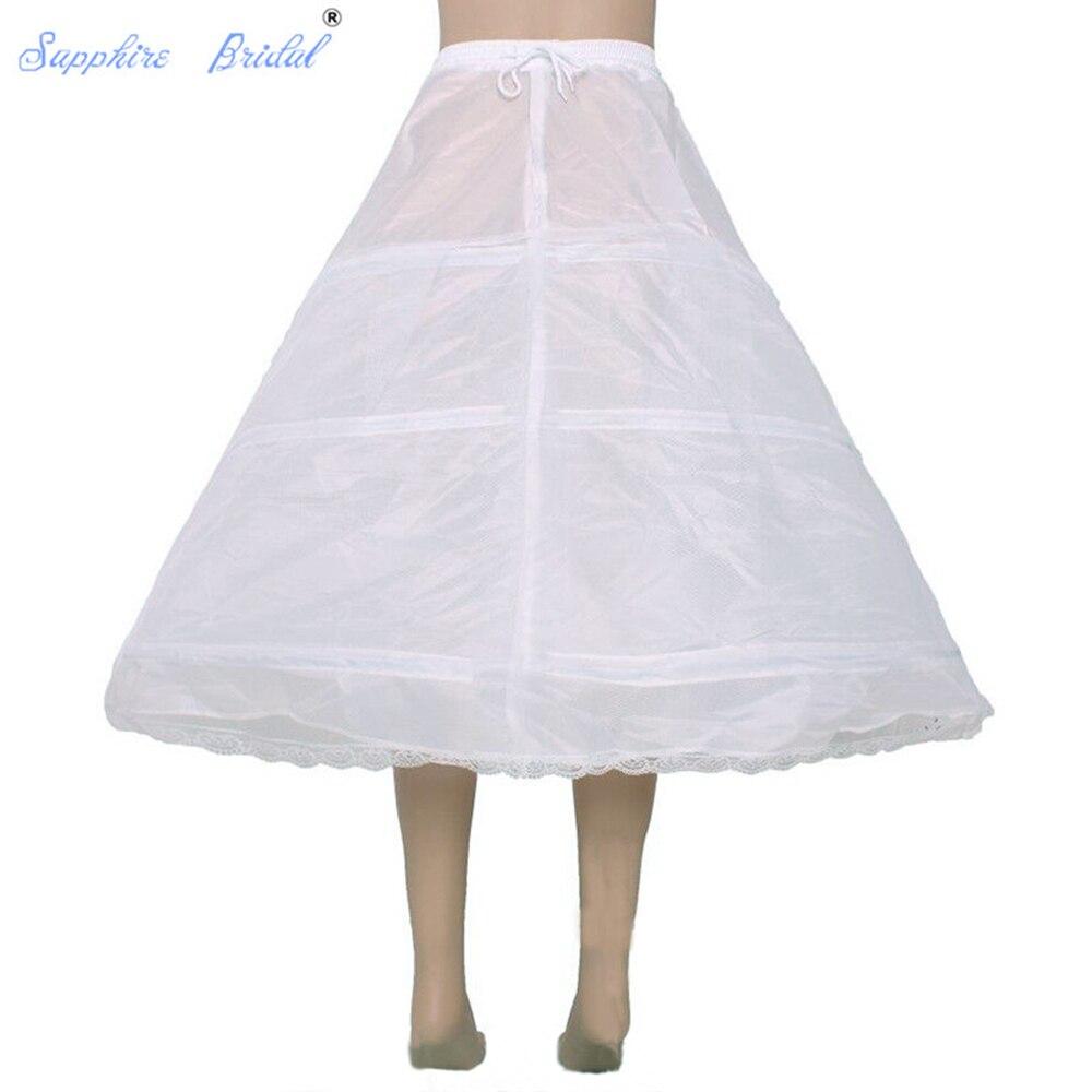 Sapphire Bridal Hot Sale New Free Shipping 3 HOOP Ball Gown Bone Full Crinoline Petticoat Wedding Skirt Slip