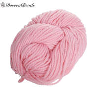 DoreenBeads Wool Knitting Yarn Soft Thick Threads Hand Knit Scarf Clothes Home Textile DIY At Random