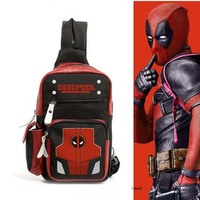 Deadpool Bags Cosplay Anime Messenger Bag Frosted Oxford school shoulder bag Handbags