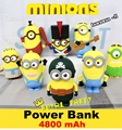 4800mah Despicable Me Minions Power Bank Powerbank Portable Battery Emergency Mobile Phone Charger Universal for iPhone Android