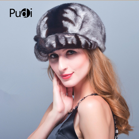 HM019 women's winter hats Real genuine mink fur hat winter women's warm caps whole piece mink fur hats hm017 real genuine mink fur hat winter hats for women whole piece mink fur hats winter cap