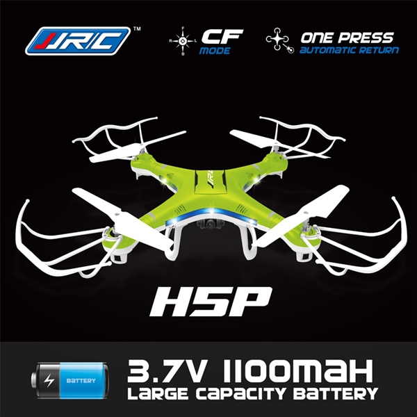 Xiangtat JJRC H5P CF With 2.0MP Camera 2.4G 4CH 6 axis 1100mAh Battery RC Quadcopter Drone RTF