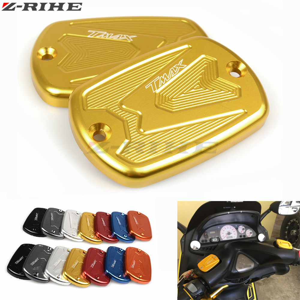 NEW CNC Aluminum Red Motorcycle Brake Fluid Fuel Reservoir Tank Cap Cover For YAMAHA T-Max 500 TMAX 500 2008-2011 TMax 530 12-15 hot sale motorcycle t max cnc aluminum