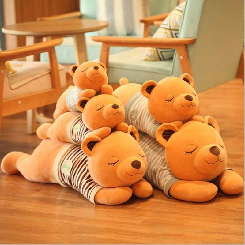 110/130cm 2 styles Giant Teddy Bear Huge Large Big Stuffed Toys Animals Plush Life Size Kid Children Baby Dolls Valentine Gift giant teddy bear 220cm huge large plush toys children soft kid children baby doll big stuffed animals girl birthday gift