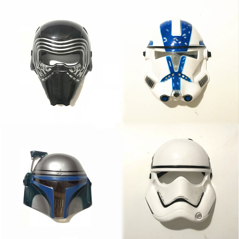 New Arrival Star Wars Character Mask Darth Vader Clone Troops Soldier PVC Mask Halloween Gift