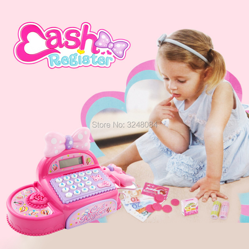 New Multi-functional Cash Register Toy Educational Pretend Play Operated Toy Working Calculator With Microphone Function