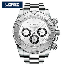 LOREO Mens Watches Automatic Watch Men Full Stainless Steel Wrist watch Man Fashion Casual Waterproof Clock relojes hombre O77