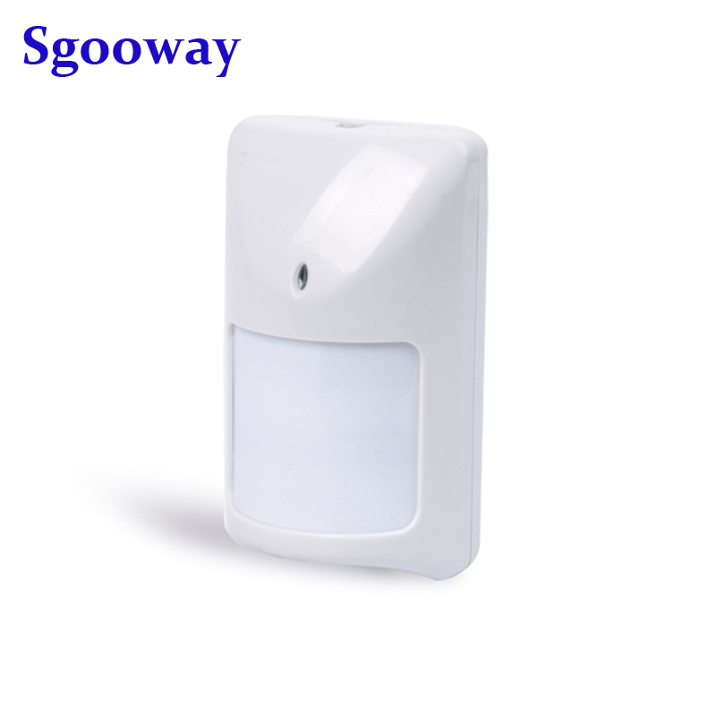 Sgooway Wired PIR Sensor Wired Infrared Detector Wired Motion Sensor Work With All Alarm System