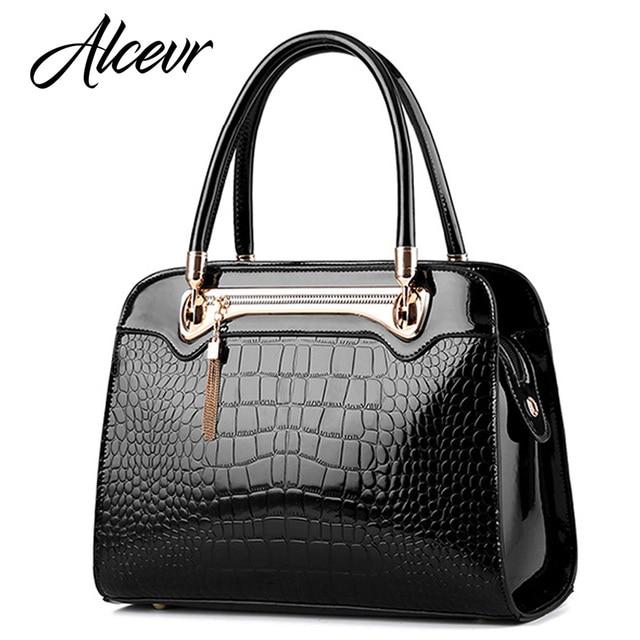 ... size 40 9de0b ec816 ALCEVR Women handbags fashion designer style  Alligator shoulder bags high quality women ... 24205636d07c6