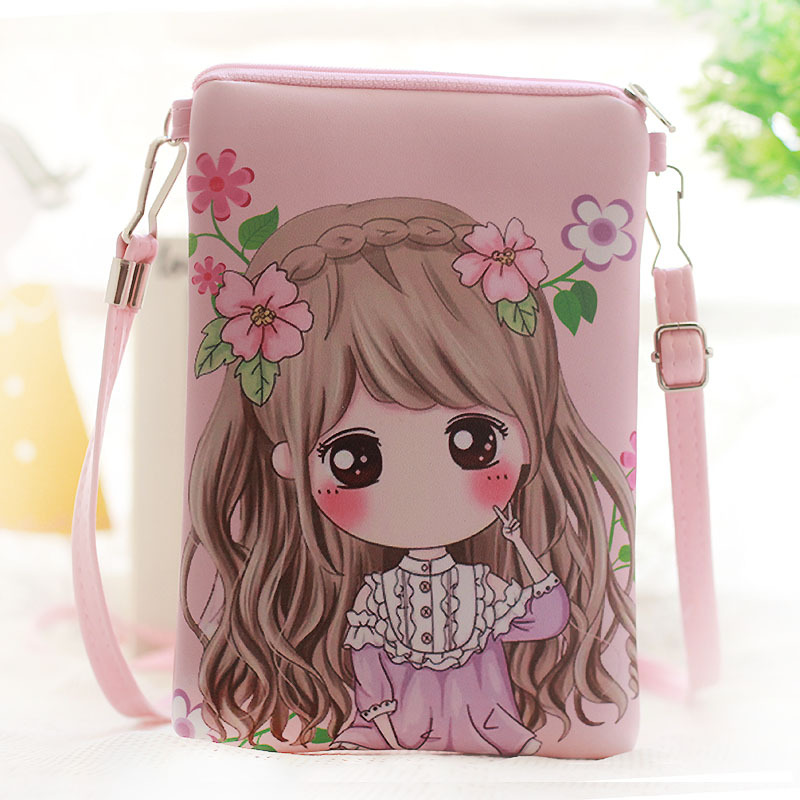 2017 Cute Kids Bags printing PU leather Girls Mini Crossbody Bag Kindergarten Baby Girl Shoulder bags Messenger bag Gift girls mini messenger bag cute plush cartoon kids baby small coin purses lovely baby children handbags kids shoulder bags bolsa