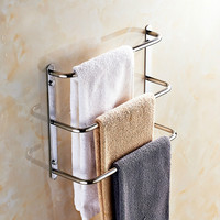 Modern Sus 304 Stainless Steel Towel Rack 3 Layers Towel Shelf 60cm Polish Towel Ladder Towel Bars Bathroom Products