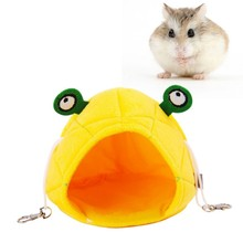 2019 Hamster Hammock Frog Cute design Small Animals Cotton Cage Sleeping Nest Pet Bed Rat Hamster Supplies Pet Accessories 1pc hamster hanging house hammock cage sleeping nest pet bed rat hamster toys cage swing pet banana design small animals