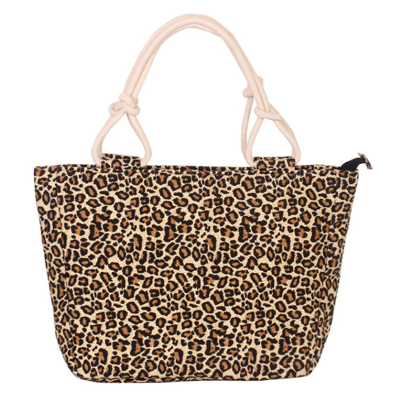 Leopard Handbag Canvas Graffiti Floral Shoulder-Bag Print Bolsa-Feminina Large Women