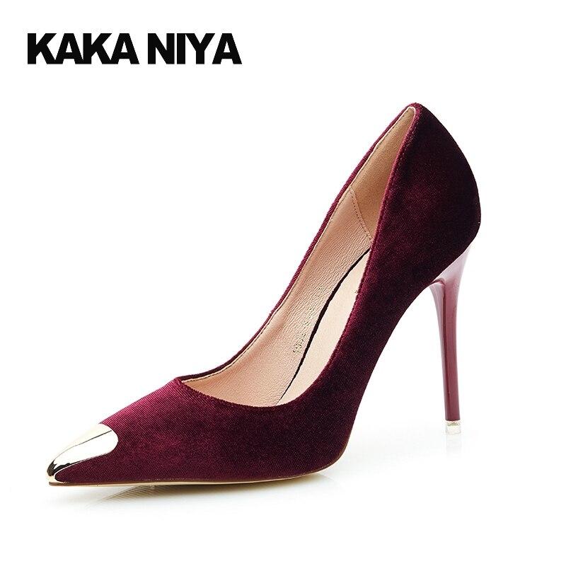 vin 34 Ultra Haute 4 Talons Femmes Chaussures Bout 2017 Petite Stiletto Bureau Vin Pompes Rouge Nude Pointu Noir nu Talon Rouge Taille Mode Automne vert w4vqBxYa
