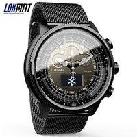 LOKMAT Bluetooth умные часы спортивные водостойкие шагомеры информационное напоминание Цифровые мужские часы smartwatch для ios Android телефон