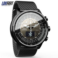 LOKMAT Bluetooth Smart Watch Sport Waterproof pedometers Information Reminder digital men clock smartwatch for ios Android phone Smart Watches