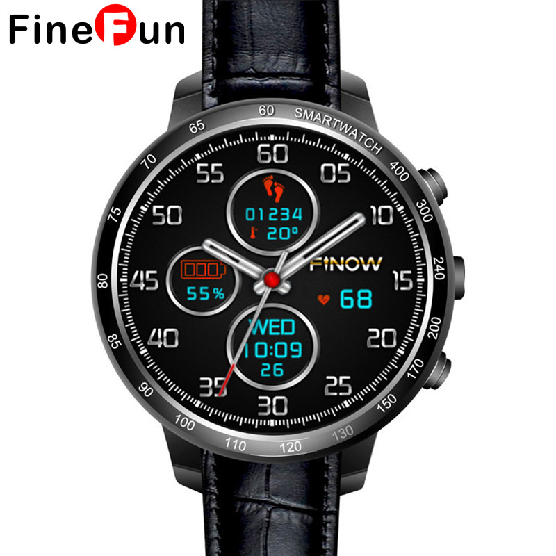 FineFun Wearable Devices Q7 Smart Watch Support 32GB TF Card Android 5.1 3G Wifi Bluetooth Heart Rate Monitoring For Android