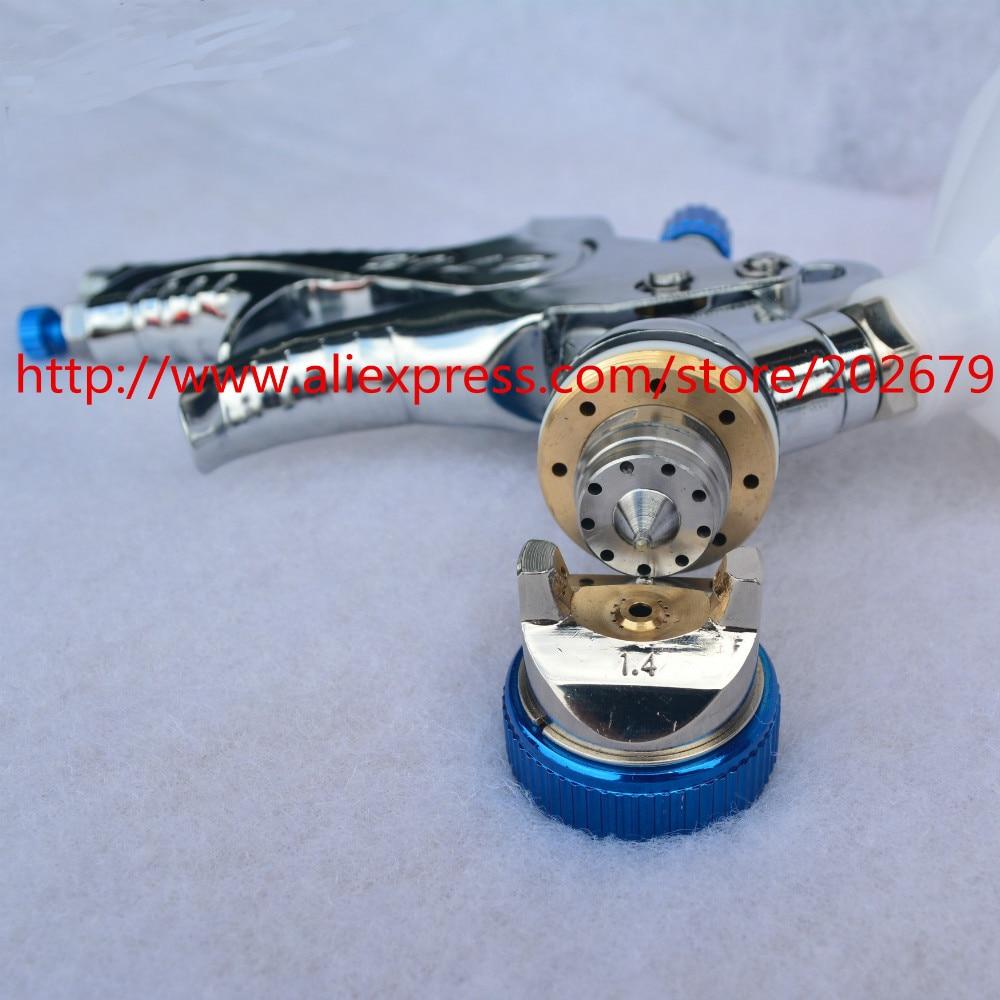 Image 5 - 601 spray gun  HVLP SPRAY GUN gravity feed stainless steel  nozzle 1.4mm 1.7mm 2.0mm auto Car face Paint spray gun-in Spray Guns from Tools on