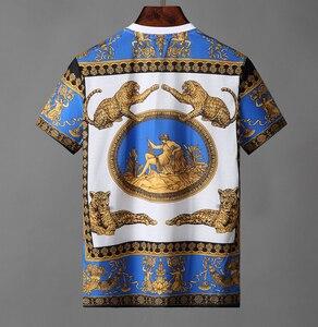 Image 5 - Мужская деловая рубашка поло, поло с вышивкой, 2019