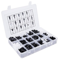 435 Pcs Car Retainer Clips & Plastic Fasteners Kit Auto Push Pin Rivets Set Nylon Bumper Push Type Retainer Fastener