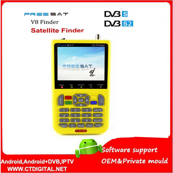 freesat v8 hd satfinder Digital Satellite Finder DVB S2 Satellite Finder MPEG 4 Freesat satellite Finder
