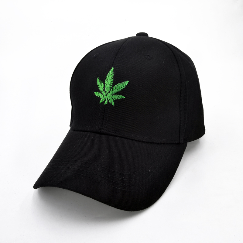 Fashion Embroidery Maple Leaf Baseball Cap Weed Snapback Hats For Men Women Cotton Swag Hip Hop cap new unisex 100% cotton outdoor baseball cap russian emblem embroidery snapback fashion sports hats for men