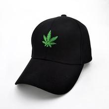 цены Fashion Embroidery Maple Leaf Baseball Cap Weed Snapback Hats For Men Women Cotton Swag Hip Hop cap